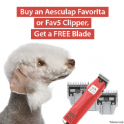 Buy an Aesculap Favorita or Fav5 Clipper, Get a FREE Blade