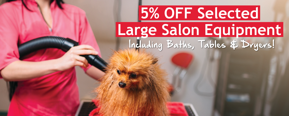 5% OFF Selected Large Salon Equipment