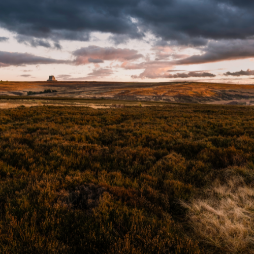 Picturesque view of the North York Moors at Sunset