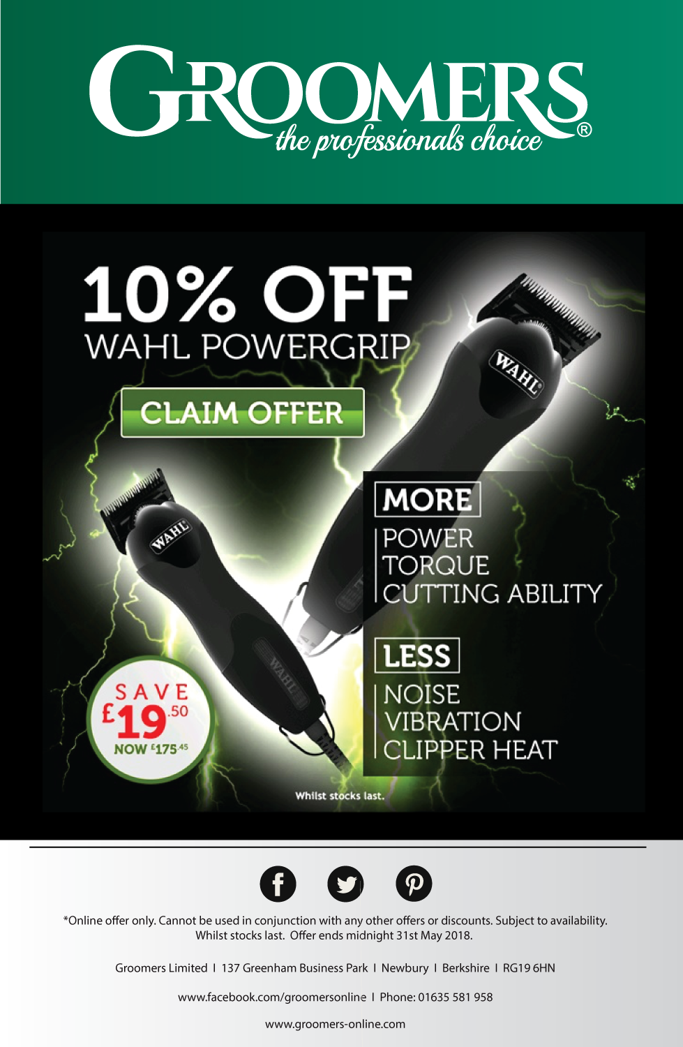 Wahl Powergrip Clipper Offer