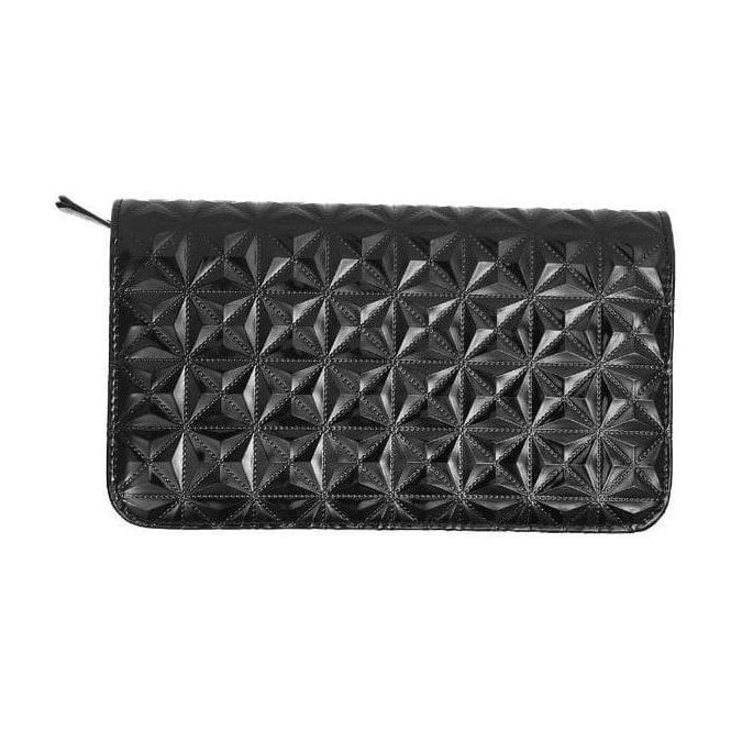 Aeolus Zipped Scissor Case - Black Geometric Pattern