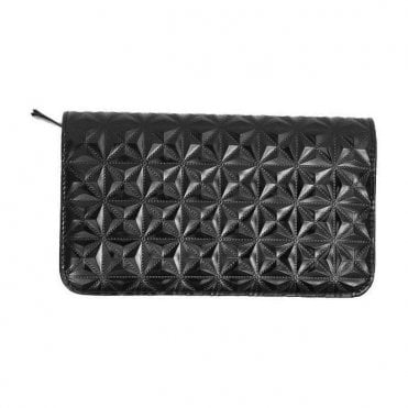 Aeolus Zipped Scissor Case - Black Geometric Pattern