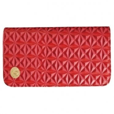 Aeolus Zipped Scissor Case - Red Geometric Pattern
