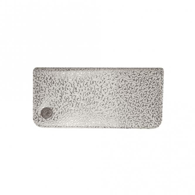 Aeolus Zipped Scissor Case - White Swirl Pattern