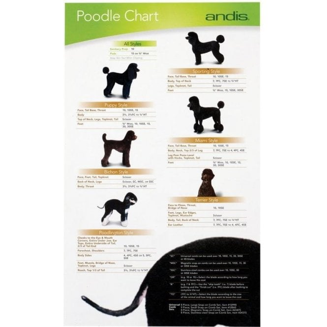 Andis Poodle Clipping Guide