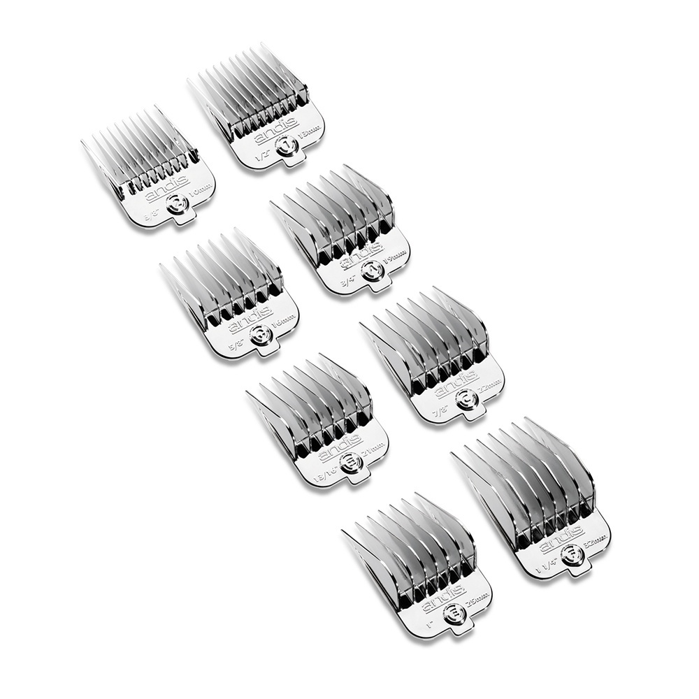 Andis Universal Magnetic Chrome Comb Set