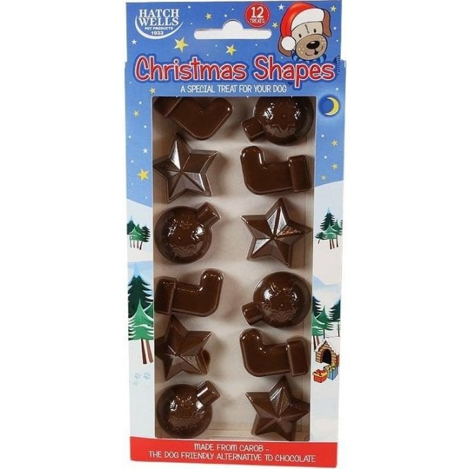 Carob Christmas Shapes for Dogs