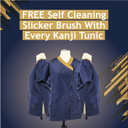 Free Self-Cleaning Slicker With Every Kanji Tunic