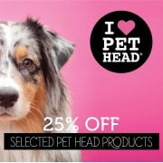 25% Off Selected Pet Head Products