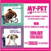 10% Off Retail Groomers Performance Shampoos - Use Code TAIL10