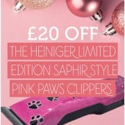 £20 Off the Heiniger Saphir Pink Paws Clipper