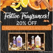 20% Off Christmas Shampoos and Sprays