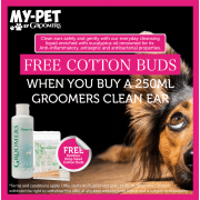 Free Cotton Buds When You Buy Groomers Clean Ear