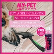 Free 250ml Performance Shampoo When You Buy A Self Cleaning Slicker Brush