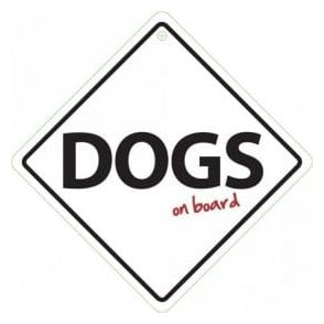 Dogs on Board Sign