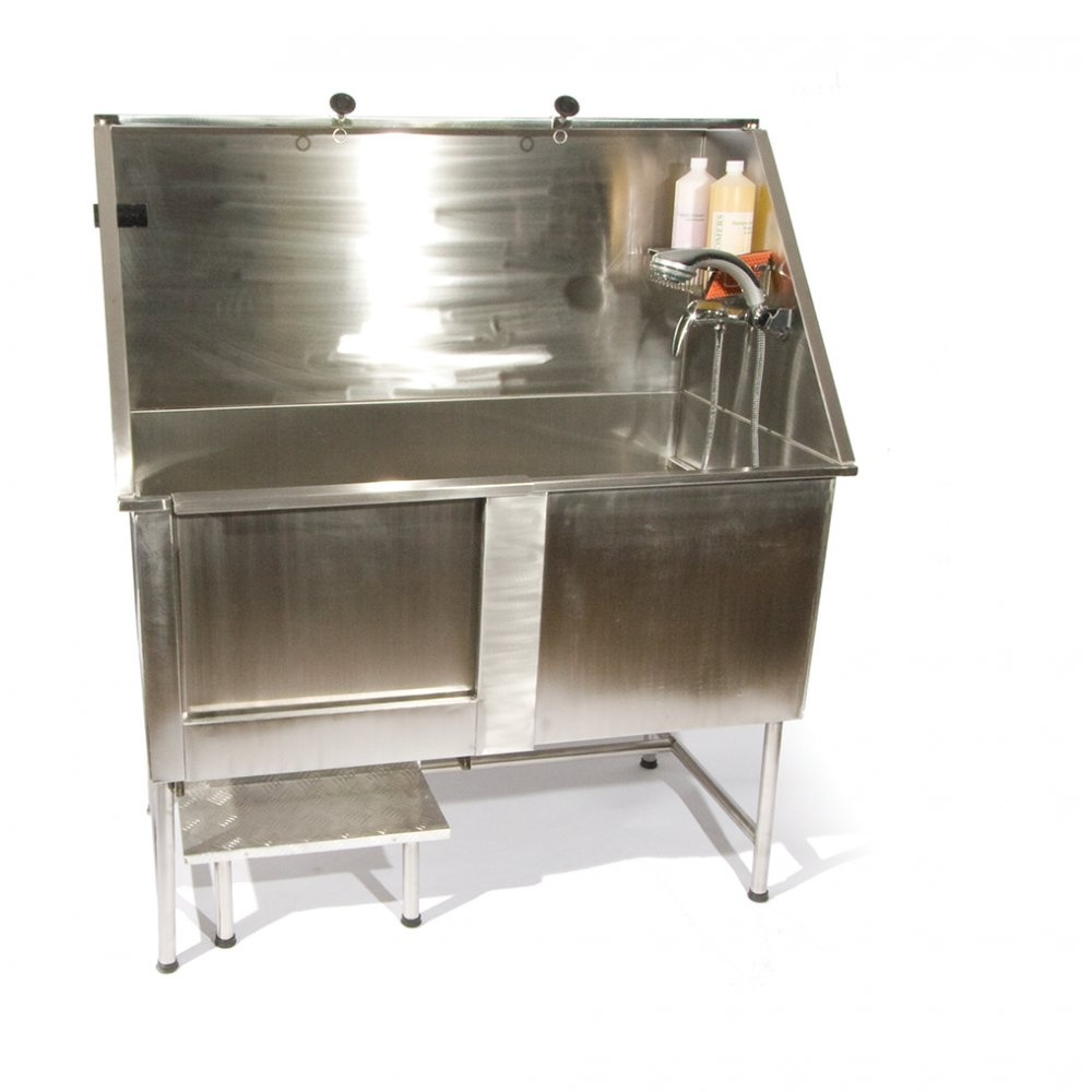 Easy Step Static Stainless Steel Dog Bath Buy Here