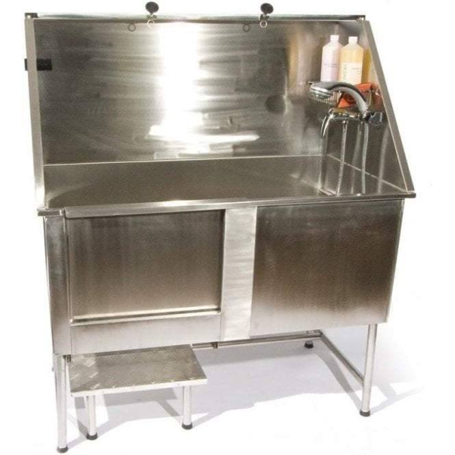 Groomers Easy Step Static Stainless Steel Bath