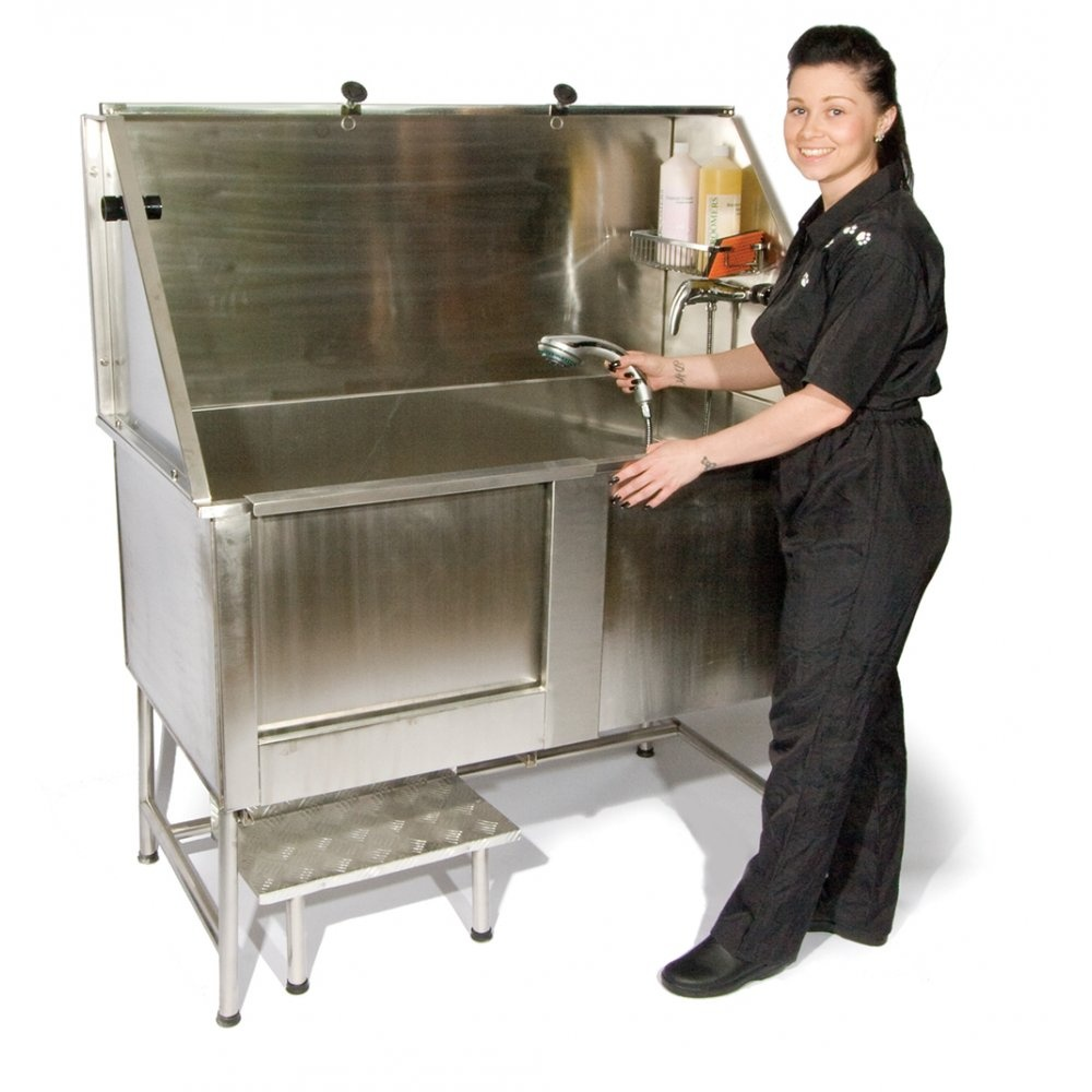 Easy step static stainless steel dog bath buy here for A bath and a biscuit grooming salon