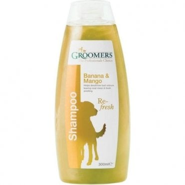 Groomers Banana and Mango Shampoo - Retail Size (300ml)
