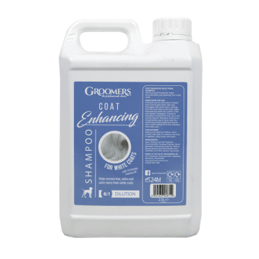 Groomers Blue Pearl Coat Enhancing Shampoo For White Coats