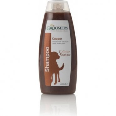 Groomers Colour Enhancing Shampoo for Brown & Copper Coats - Retail Size (300ml)