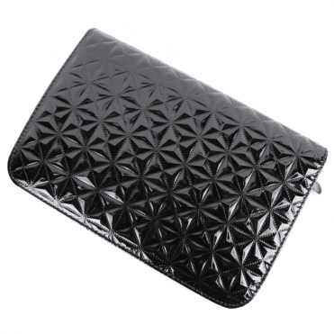 Black shiny geometric design scissor case