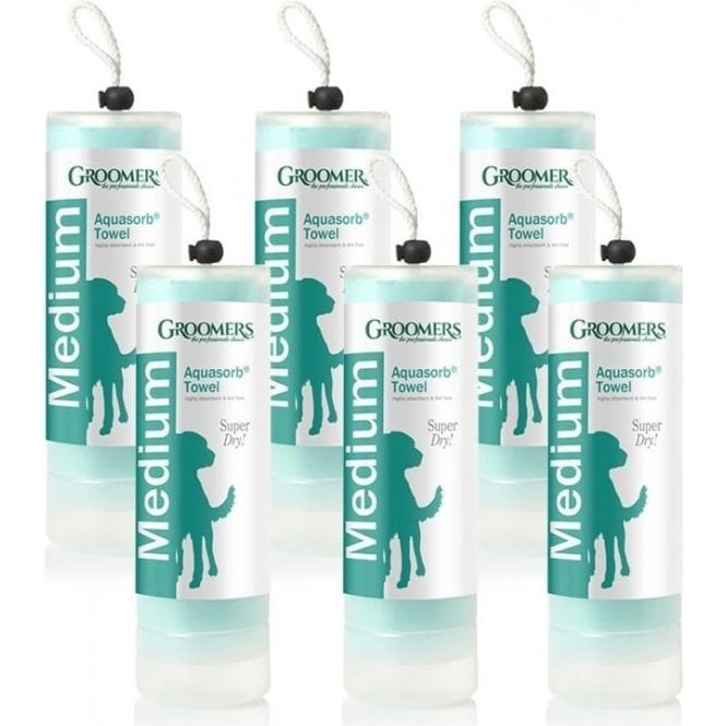 Groomers Medium Aquasorb Towel Six Pack