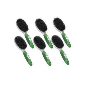 Groomers Medium Natural Bristle Brush Six Pack