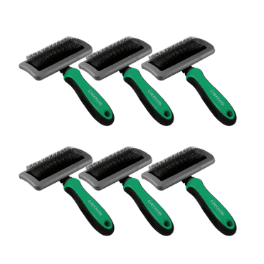 Groomers Medium Slicker Brush Six Pack - NEW