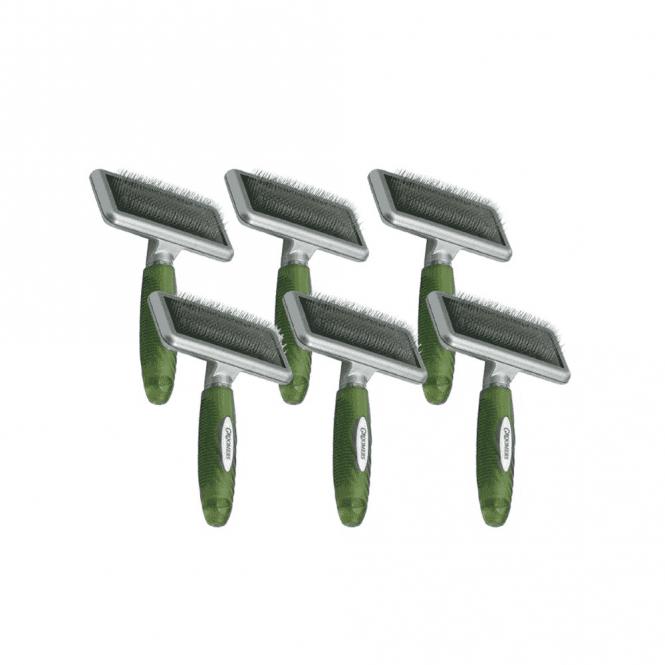 Groomers Medium Slicker Brush Six Pack