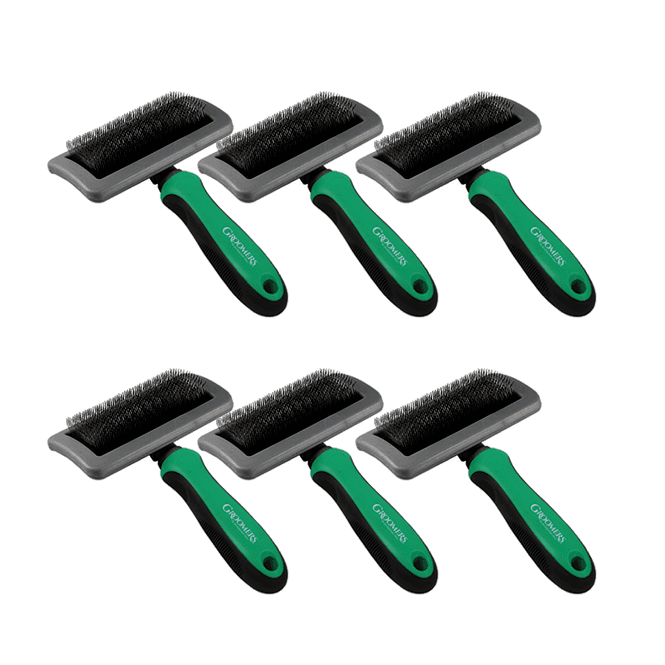 Groomers Medium Slicker Brush Six Pack