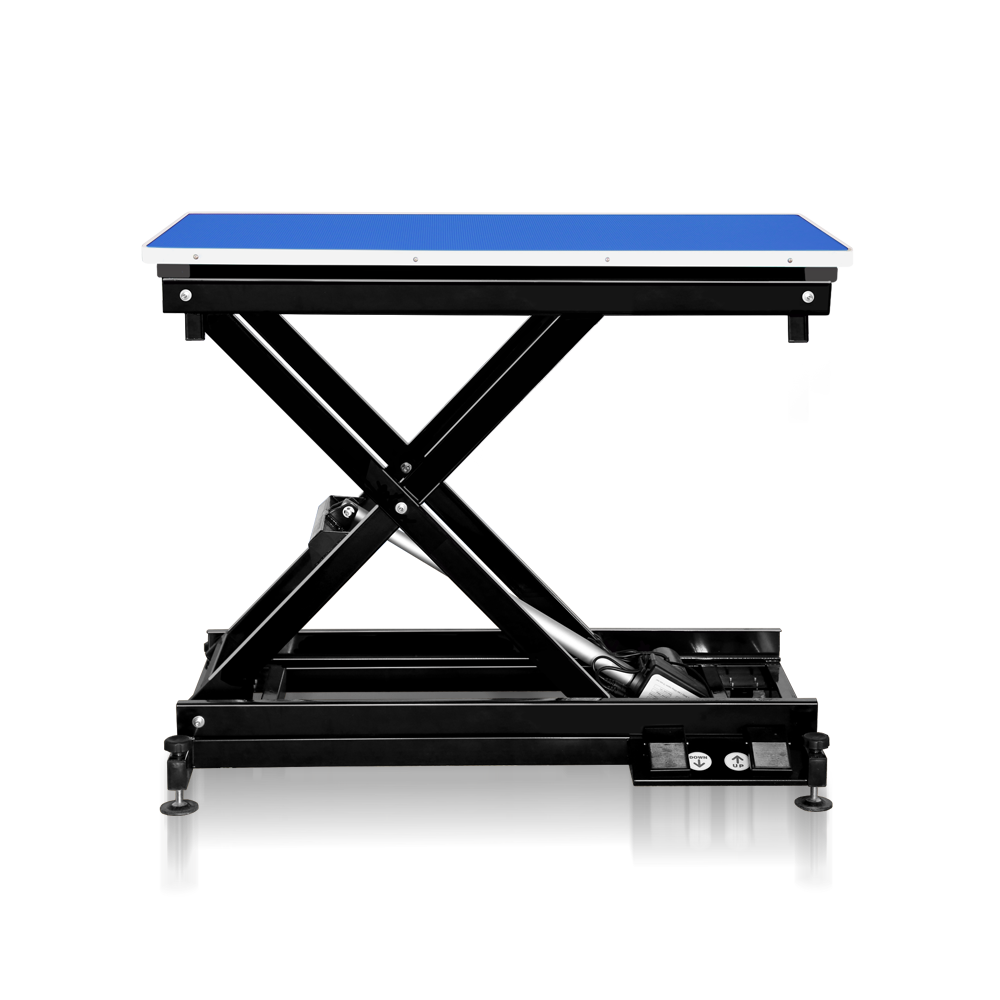 Groomers Metro II ExLo Electric Table – Black Frame Blue Table Top  NEW