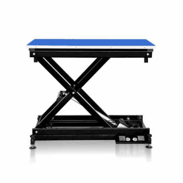 Groomers Metro II ExLo Electric Table – Black Frame, Blue Table Top