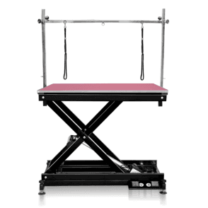 Groomers Metro II ExLo Electric Table – Black Frame, Pink Table Top - NEW