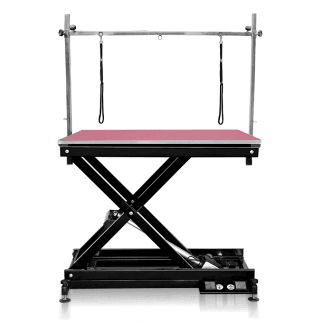 Groomers Metro II ExLo Electric Table – Black Frame, Pink Table Top