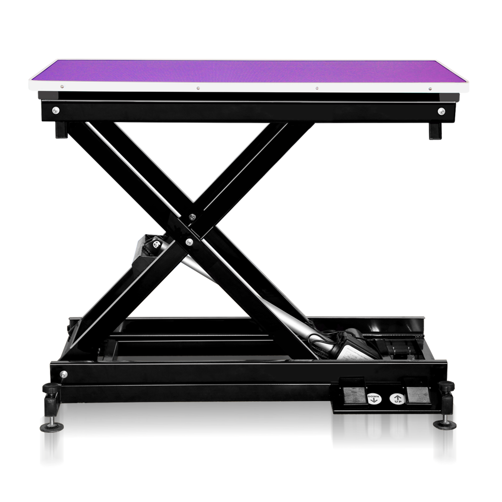 Groomers Metro II ExLo Electric Table – Black Frame Purple Table Top  NEW