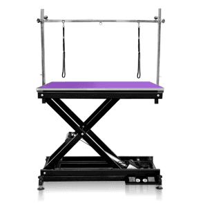 Groomers Metro II ExLo Electric Table – Black Frame, Purple Table Top