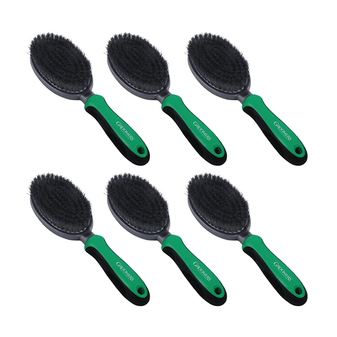 Groomers Natural Bristle Brush Six Pack