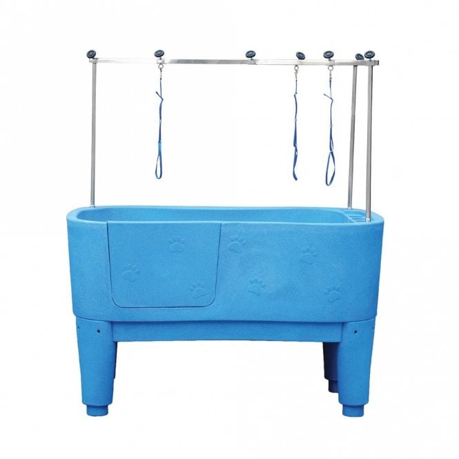 Groomers Neptune Static Shower Bath - Electric Blue