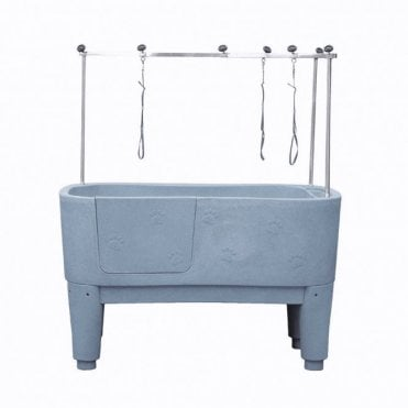 Groomers Neptune Static Shower Bath - Grey
