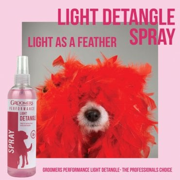 Groomers Performance Light Detangle Spray for Dogs 250ml