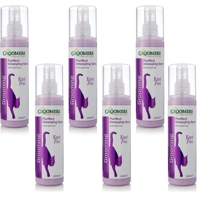 Groomers Purrfect Cat Fur Detangling Spray Six Pack