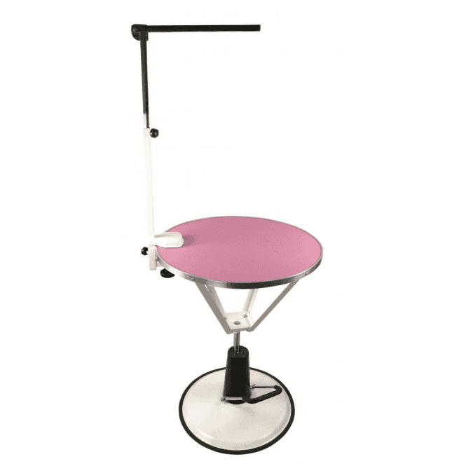 Groomers Solar Hydraulic Table - Pink Ex Display