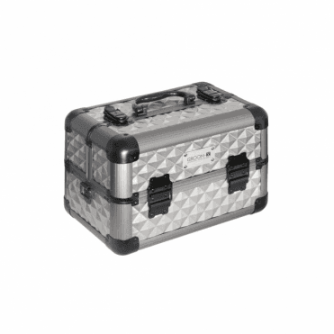 GroomX Mini Portable Storage Case - Silver geometric design