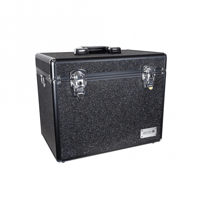 GroomX Portable Glitter Grooming Case - Black