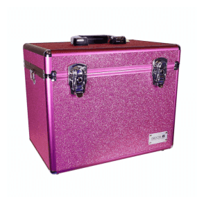 GroomX Portable Glitter Grooming Case - Pink - NEW