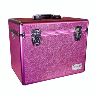 GroomX Portable Glitter Grooming Case - Pink