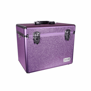GroomX Portable Glitter Grooming Case - Purple - NEW
