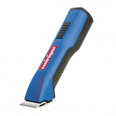 Heiniger Saphir Cordless - Blue with red logo and black back casing