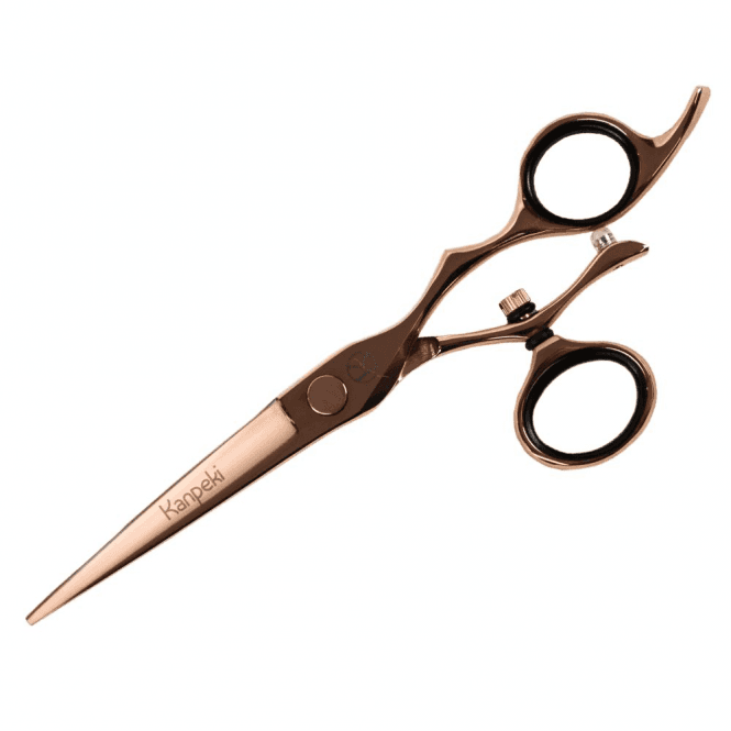 "Kanpeki Midas Rose Gold 6"" Straight Swivel Scissor - NEW"
